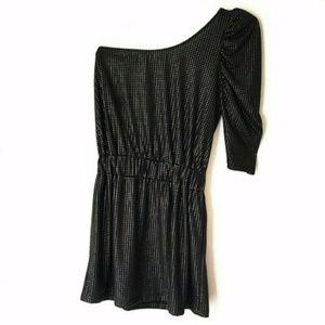 Zara Trafaluc Evening One Shoulder Beaded Dress